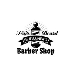 barbershop icon for gentleman beard salon vector image