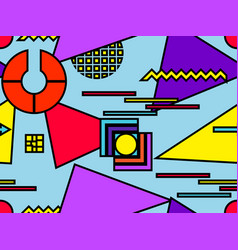 Bauhaus seamless pattern geometric elements vector