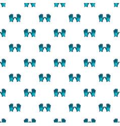 Blue golf gloves pattern vector