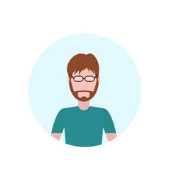 brown hair man avatar isolated faceless beard male vector image