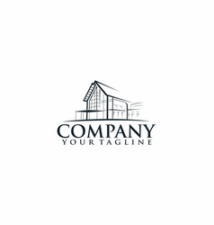 Building house logo vector