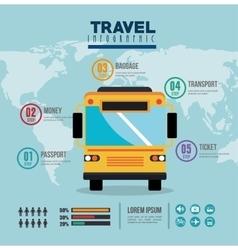 Bus travel infographic icon vector