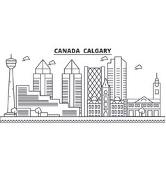 canada calgary architecture line skyline vector image