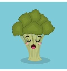 cartoon broccoli vegetables design isolated vector image
