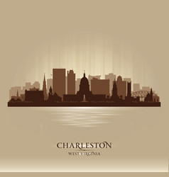 Charleston west virginia city skyline silhouette vector