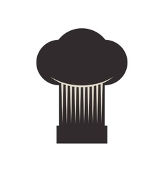 Chefs hat icon bakery supply design vector