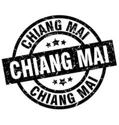 Chiang mai black round grunge stamp vector