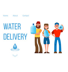 company for delivery drinking clean water vector image