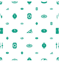 Dial icons pattern seamless white background vector