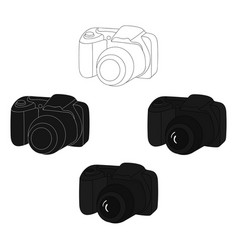 digital camera icon in cartoonblack style vector image