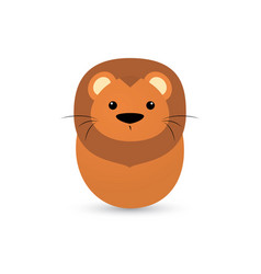 easter lion egg vector image