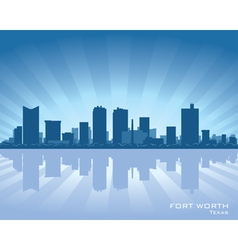 fort worth texas skyline vector image
