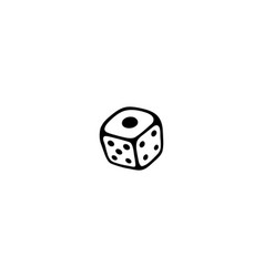 game die isolated icon vector image