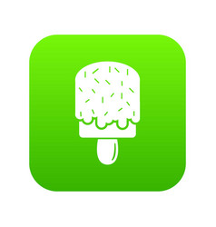 glaze ice cream icon green vector image