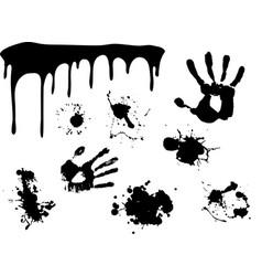 hand print began to flow paint vector image