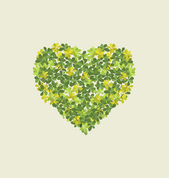 heart from leaves vector image