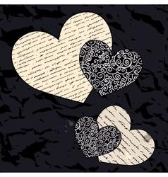 Heart set Love background vector