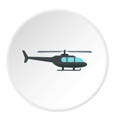Helicopter icon circle vector