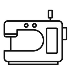 home sew machine icon outline style vector image