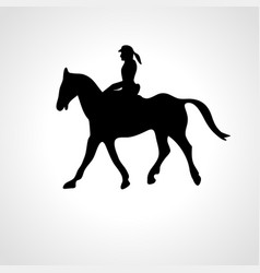 Horse race equestrian sport silhouette racing vector