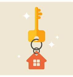 House keys with Red House Key chain vector