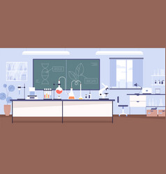 inside modern scientific chemical laboratory vector image