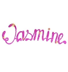 Jasmine name lettering tinsels vector image vector image