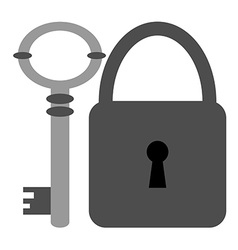 Key and Padlock Icons vector