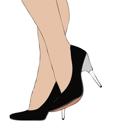 Legs with high heels 007 bis vector image