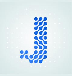 letter j logo halftone icon vector image