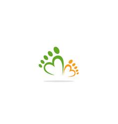love foot step logo vector image