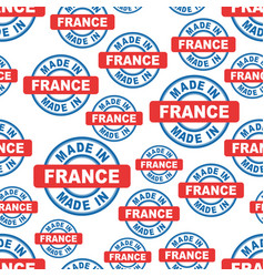 made in france seamless pattern background icon vector image vector image