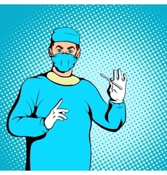 Male surgeon concept comics style vector image