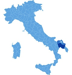 Map of Italy Taranto vector