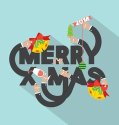 Merry X-mas Typography Design vector image