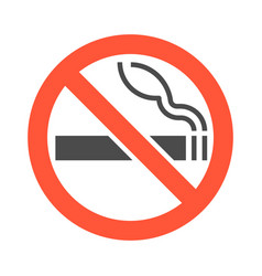 Non smoking area sigh and symbol silhouette vector