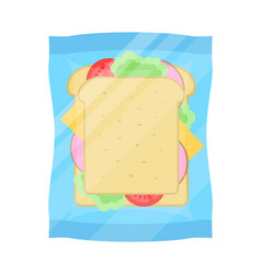 Packaged sandwich isolated icon vector