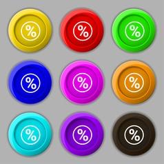 percentage discount icon sign symbol on nine round vector image