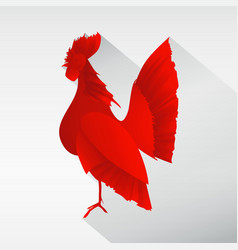 red rooster image vector image