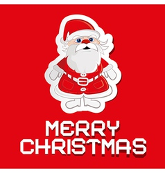 Santa Claus on red background with paper Merry vector image