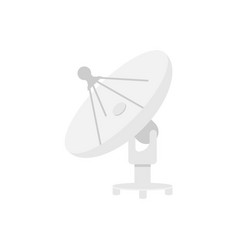 Satellite dishes antenna isolated on white vector