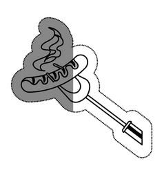 sausage grill menu icon vector image