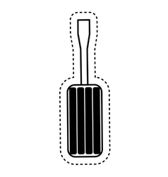 screwdriver tool repair service icon vector image