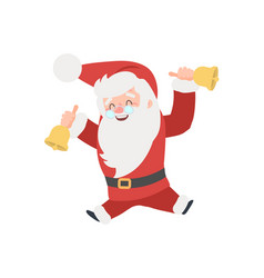 set of christmas santa claus merry vector image
