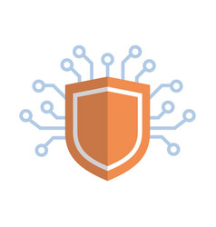 shield icon media network data protection concept vector image