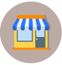 Shop icon vector