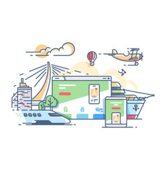 Site travel agency vector