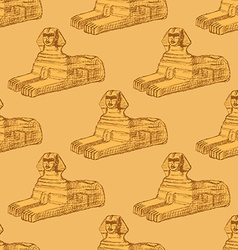 Sketch Sphinx monument in vintage style vector