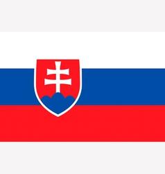 Slovakian flag vector image