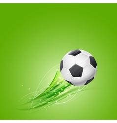 soccer ball flying vector image